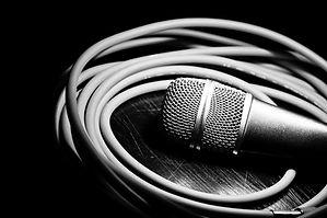 Microphone noir et blanc
