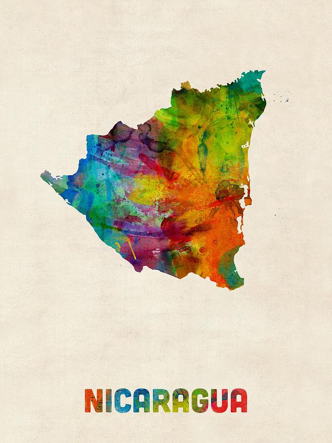 nicaragua-watercolor-map-michael-tompsett