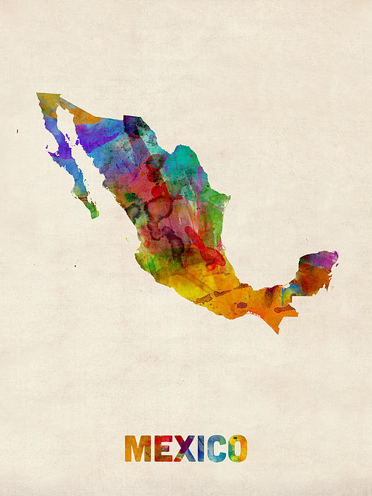 mexico-watercolor-map-michael-tompsett