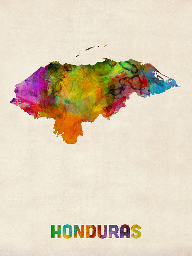 honduras-watercolor-map-michael-tompsett