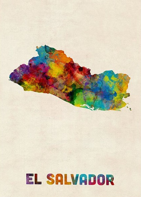 el-salvador-watercolor-map-michael-tompsett