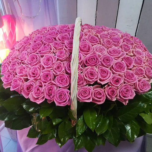 """Корзина """"Розовое счастье"""""""