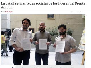 La Tercera | La batalla en las redes sociales de los líderes del Frente Amplio