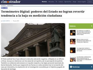 El Mostrador I Termómetro Digital: poderes del Estado no logran revertir tendencia a la baja en medi