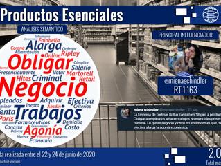 """Criticado anuncio de """"productos esenciales"""""""