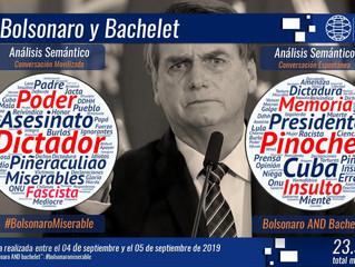 Fuertes críticas realizó Jair Bolsonaro contra Michelle Bachelet tras los dichos sobre la situación