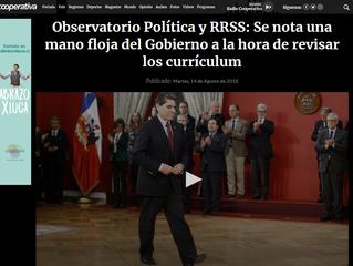 Cooperativa | Observatorio Política y RRSS: Se nota una mano floja del Gobierno a la hora de revisar