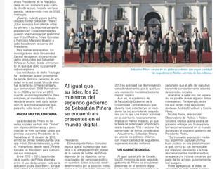 """El Mercurio I """"Un Presidente con gabinete digital"""""""
