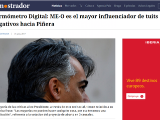 EL MOSTRADOR I Termómetro Digital: ME-O es el mayor influenciador de tuits negativos hacia Piñera