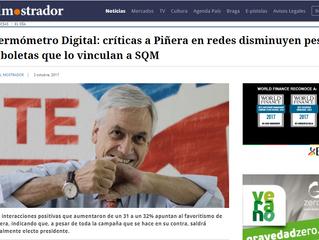 El Mostrador I #TermómetroDigital: críticas a Piñera en redes disminuyen pese a boletas que lo vincu