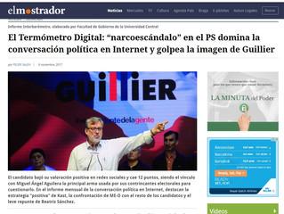 """El Mostrador I #TermómetroDigital: """"narcoescándalo"""" en el PS domina la conversación política en Inte"""