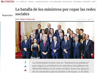 La Tercera I La batalla de los ministros por copar las redes sociales