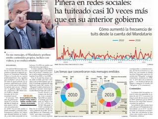 El Mercurio I Piñera en redes sociales: ha tuiteado casi 10 veces más que en su gobierno anterior