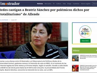 """EL MOSTRADOR I Redes castigan a Beatriz Sánchez por polémicos dichos por """"totalitarismo"""" d"""