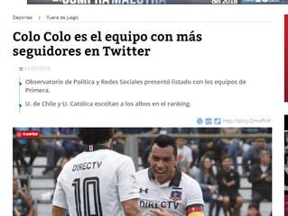 Cooperativa I Colo Colo es el equipo con más seguidores en Twitter