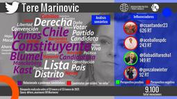 Polémica candidatura de Tere Marinovic a la Convención Constitucional activan las RRSS