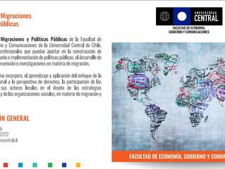 Magíster en Migraciones y Políticas Públicas en UCEN