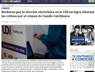 El Mostrador | Bochorno por la elección electrónica en la UDI no logra silenciar las críticas por el