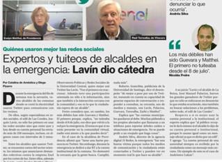 """LA SEGUNDA I""""Expertos y tuiteos de alcaldes en la emergencia: Lavín dio cátedra"""""""