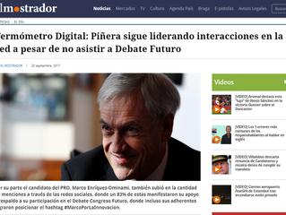 El Mostrador I #TermómetroDigital Piñera sigue liderando interacciones en la red a pesar de no asist