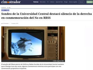 El Mostrador | Sondeo de la Universidad Central destacó silencio de la derecha en conmemoración del