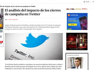 La Tercera I El análisis del impacto de los cierres de campaña en Twitter