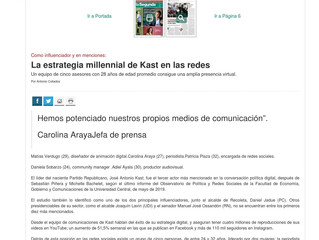 La estrategia millennial de Kast en las redes
