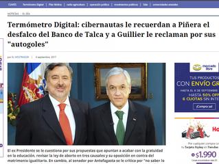 #TermómetroDigital: cibernautas le recuerdan a Piñera el desfalco del Banco de Talca y a Guillier le