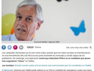 """Radio BIOBIO I Sebastián Piñera es el candidato con mayor cantidad de seguidores """"falsos"""""""