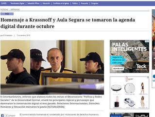 El Mostrador | Homenaje a Krassnoff y Aula Segura se tomaron la agenda digital durante octubre