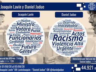 Joaquín Lavín vs Daniel Jadue: los dos alcaldes que lideran la conversación en Twitter