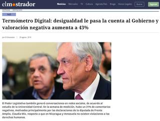 El Mostrador | Termómetro Digital: desigualdad le pasa la cuenta al Gobierno y valoración negativa a