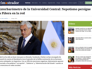 El Mostrador I Interbarómetro de la Universidad Central: Nepotismo persigue a Piñera en la red