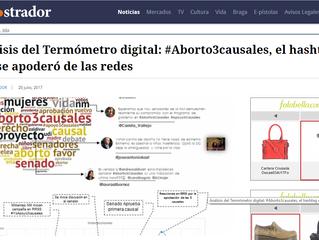 EL MOSTRADOR I Análisis del Termómetro digital: #Aborto3causales, el hashtag que se apoderó de las r