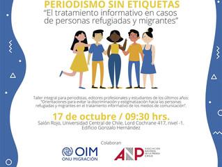 """Periodismo y ACNUR: dictaron un seminario para tratar la información """"sin etiquetas"""" de migrantes y"""
