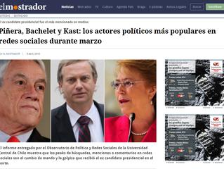 El Mostrador I Piñera, Bachelet y Kast: los actores políticos más populares en redes sociales durant