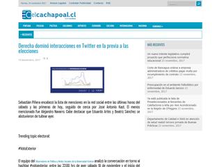 El Cachapoal I Derecha dominó interacciones en Twitter en la previa a las elecciones