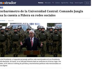 El Mostrador I Interbarómetro de la Universidad Central: Comando Jungla pasa la cuenta a Piñera en r