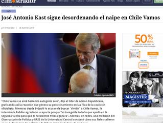 El Mostrador | José Antonio Kast sigue desordenando el naipe en Chile Vamos