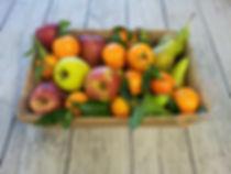 Panier garnis de fruits, fêtes, lots pour loto