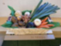 Panier garnis de légumes fêtes lotos
