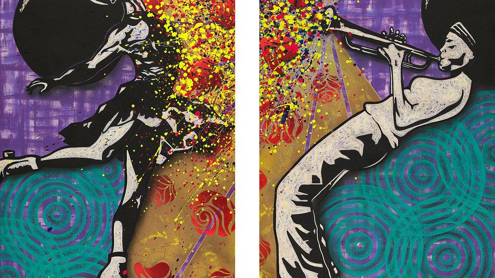 Macy & Mary J. (print canvas)