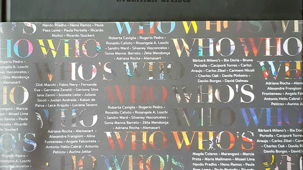 "Livro ""Who's Who Brazilian Artists"""