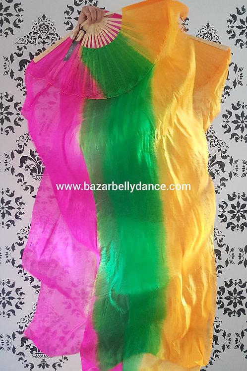Abanicos de seda