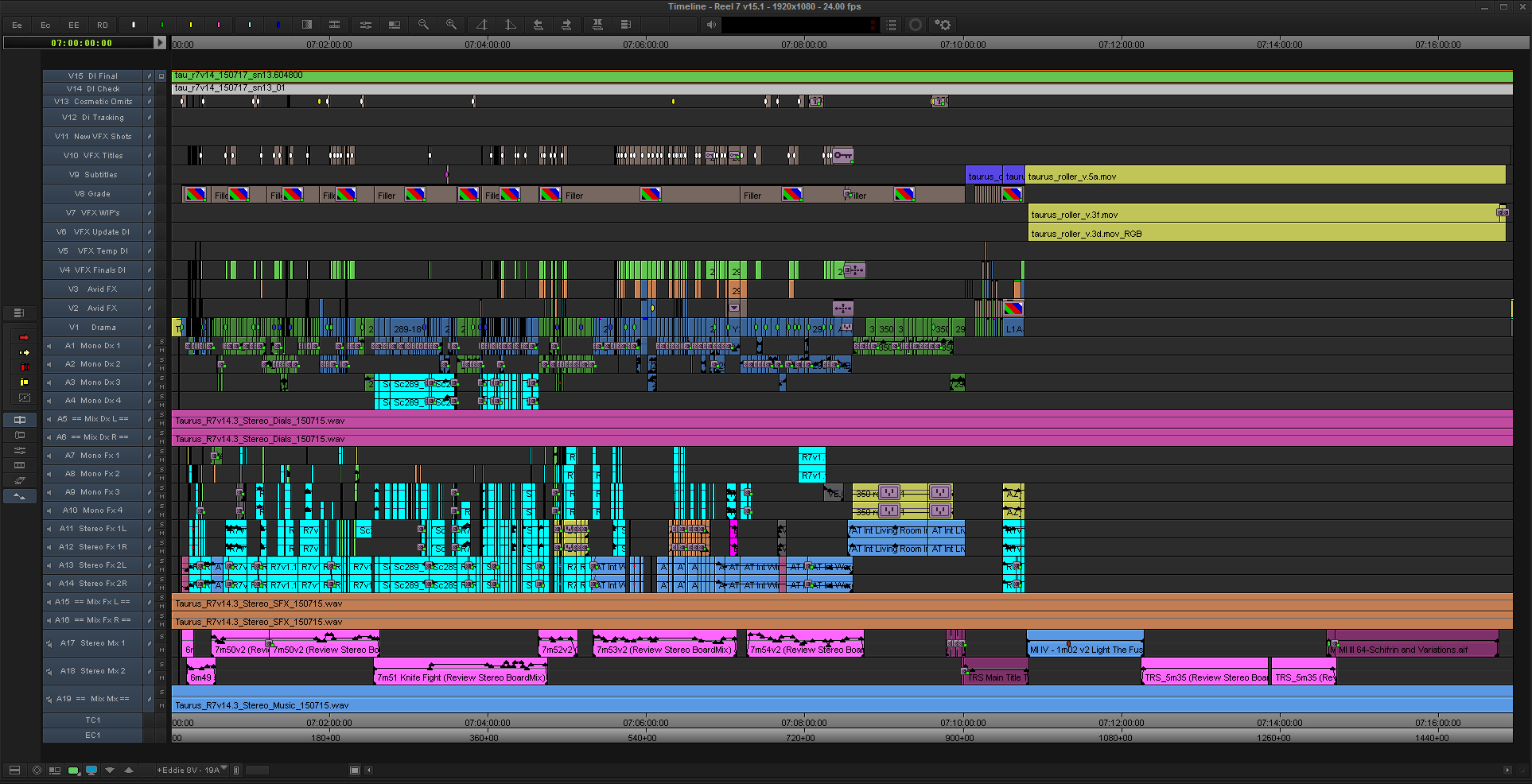 Taurus-Final-Reel-7-Avid-MC-Timeline
