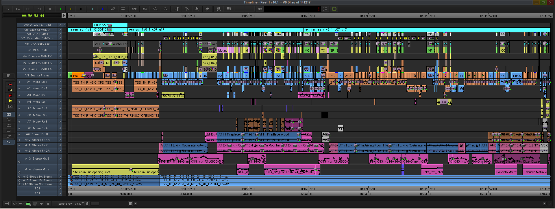 Kingsman-Final-Reel-1-Avid-MC-Timeline
