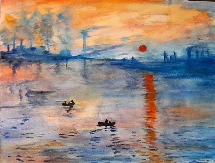 """Copy of Monet's """"Impression au soleil levant"""""""