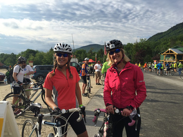 Vicki and her daughter, Lexi, at the Trek Across Maine. She's biked in the event for ten years now, raising funds for the American Lung Association.