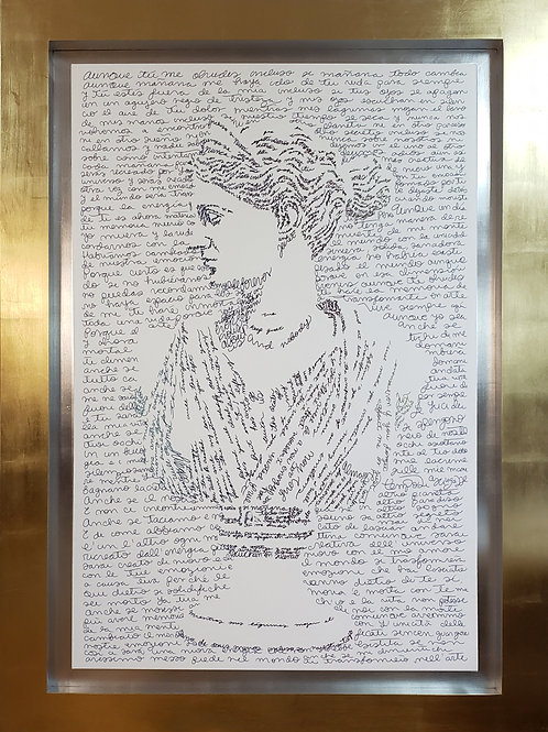 Calligram of Goddess Diana
