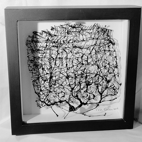 23 x 23 Complex Melted Filament Flat Sculptures